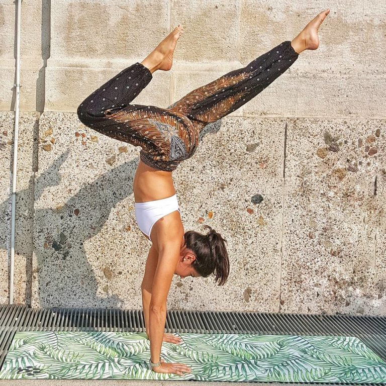 Yogi Bare® Teddy Yoga Mat. Tropical. Travel. Sweat